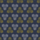 Seamless dark pattern background gold and white Stock Photo