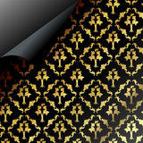 Seamless dark pattern design. Seamless dark pattern page with curled corner Royalty Free Stock Image