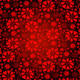 Seamless dark-red floral pattern. Seamless bright glowing background with floral lacy vintage pattern (vector EPS 10 Stock Image