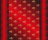 Seamless Dark Red Wallpaper. Yellow Floral Stock Image