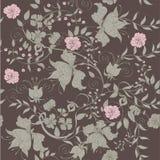 Seamless dark rose. Decorative seamless dark gray background Stock Image