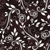 Seamless dark rose pattern. Seamless dark rose floral vintage pattern Stock Photography