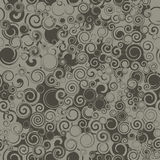 Seamless Dark Swirls Stock Image