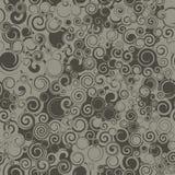 Seamless Dark Swirls Stock Image