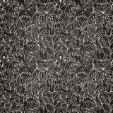 Seamless dark texture with flower Royalty Free Stock Photography