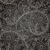 Seamless dark texture with flower Stock Photography