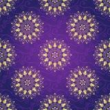 Seamless dark violet christmas pattern Royalty Free Stock Photos