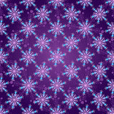 Seamless dark violet christmas pattern Stock Photography