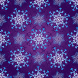 Seamless dark violet christmas pattern Stock Photography