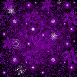 Seamless dark-violet pattern Royalty Free Stock Photos