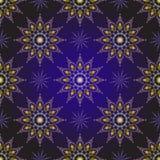 Seamless dark violet vintage christmas pattern Stock Image