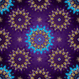 Seamless Dark violet Vintage Pattern Stock Image