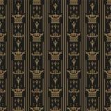 Seamless Dark Wallpaper For The Interiors Stock Photos