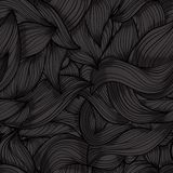 Seamless dark wave hand-drawn pattern Stock Photography