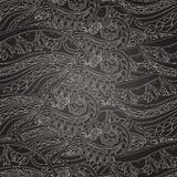 Seamless dark wave hand-drawn pattern Stock Image