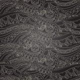 Seamless dark wave hand-drawn pattern Stock Image