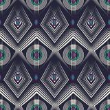 Seamless deco pattern ornament, geometric stylish background Royalty Free Stock Images