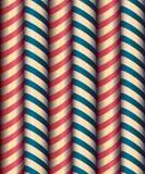Seamless decor. Decorative stripes wrapped colored Stock Photos
