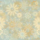 Seamless floral snowflakes decor Royalty Free Stock Images