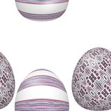 Seamless decorated Easter eggs pattern royalty free stock image