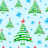 Seamless decorated stylized Christmas tree Stock Image