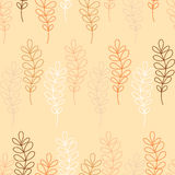 Seamless decorative  background with branches and leaves Royalty Free Stock Images