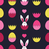 Seamless decorative  background with Easter eggs. Print. Cloth design, wallpaper. Royalty Free Stock Photo