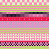 Seamless decorative  background with geometric shapes Royalty Free Stock Photo