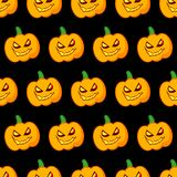 Seamless decorative  background Happy Halloween. Halloween Party with pumpkins. Textile rapport Royalty Free Stock Image