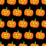 Seamless decorative  background Happy Halloween. Halloween Party with pumpkins. Textile rapport Royalty Free Stock Photography
