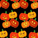 Seamless decorative  background Happy Halloween. Halloween Party with pumpkins. Textile rapport Stock Photography