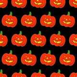 Seamless decorative  background Happy Halloween. Halloween Party with pumpkins. Textile rapport Stock Image