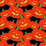 Seamless decorative  background Happy Halloween. Halloween Party with pumpkins. Textile rapport Royalty Free Stock Images
