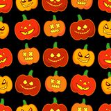 Seamless decorative  background Happy Halloween. Halloween Party with pumpkins. Textile rapport Royalty Free Stock Photo
