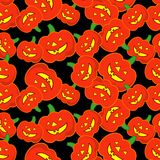 Seamless decorative  background Happy Halloween. Halloween Party with pumpkins. Textile rapport Royalty Free Stock Photos