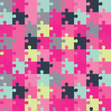 Seamless decorative  background with puzzles. Print. Repeating background. Cloth design, wallpaper. Stock Images
