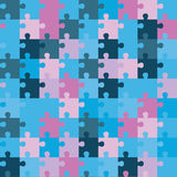 Seamless decorative  background with puzzles. Print. Repeating background. Cloth design, wallpaper. Stock Photos