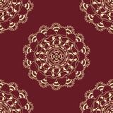 Seamless decorative background, seamless ethnic background.   background in ethnic style, Indian ornament, circular Royalty Free Stock Photo