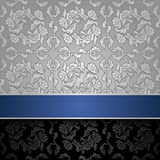 Seamless decorative background silver  Royalty Free Stock Photo