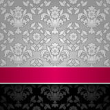 Seamless decorative background silver Royalty Free Stock Image