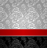 Seamless decorative background silver Royalty Free Stock Images
