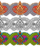 Seamless decorative border in the Indian style. Stock Image