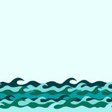 Seamless decorative border from sea waves Royalty Free Stock Images