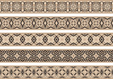 Seamless decorative borders Royalty Free Stock Images