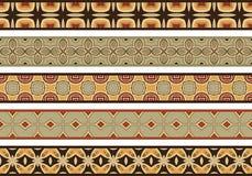 Seamless decorative borders Royalty Free Stock Photography