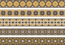 Seamless decorative borders Royalty Free Stock Photo
