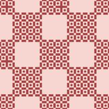 Seamless brown checkered pattern royalty free illustration
