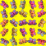 Seamless decorative butterflies pattern Stock Photography