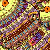 Seamless decorative cat pattern background Royalty Free Stock Photography