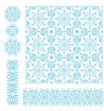 Seamless decorative christmas pattern and decorative elements Stock Photography